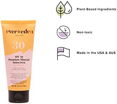 Evereden Mineral Sunscreen - Baby Sun Block for Sun Protection - Sunscreen with Jojoba Oil, Made w/Plant Based Ingredients