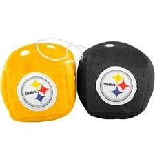 NFL Pittsburgh Steelers Fuzzy Dice,one black, one gold w/ - Pittsburgh Mall In Outlet