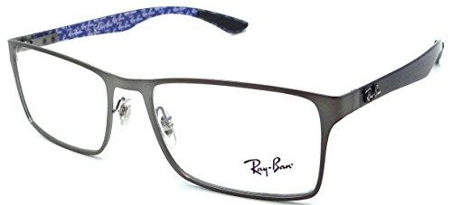 7c82a04cc4 Ray-ban Rx Eyeglasses Frames Rb 8415 2620 55x17 Matte Gunmetal   Carbon  Fiber - Buy Online in UAE.