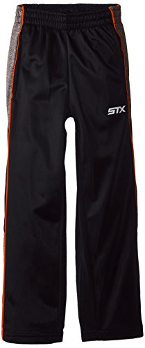 STX Big Boys' Tricot Pull On Sport Pant, TF15-Black/Neon Orange, 10/12