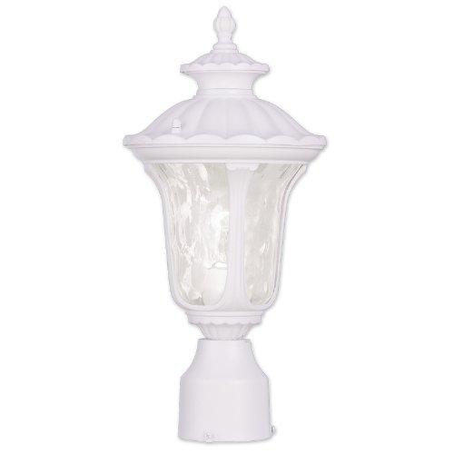Livex Lighting 7848-03 Oxford 1 Light Outdoor Post Head, White