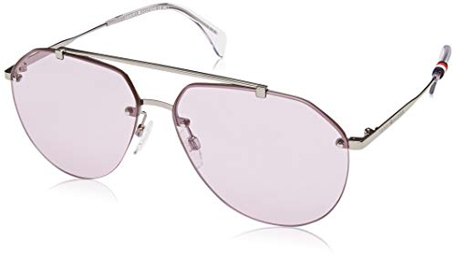 Tommy Hilfiger Unisex-Adult TH1598S Aviator Sunglasses, Silver, 60 ()