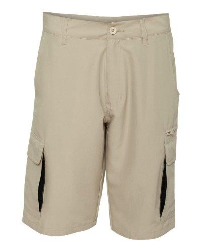 Burnside Mens Microfiber Shorts-B9803-34-Stone