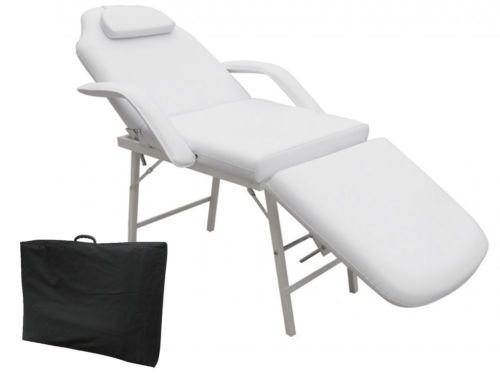 73'' Portable Tattoo Parlor Spa Salon Facial Bed Beauty Massage Table Chair White by Unknown (Image #1)