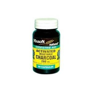 Cheap Mason Natural Activated Vegetable Charcoal Capsules, Digestive Aid – 60 Ea
