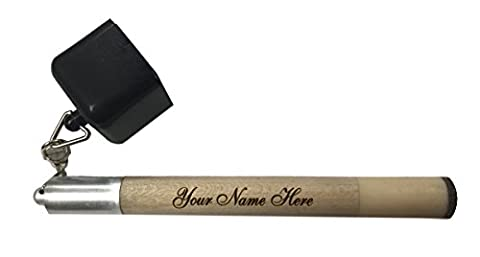 Custom Engraved Tip Pick Pocket Chalker Holder for Billiard Cue Includes Tip Pricker Prep Tool and One Piece of Pocket - Felt Tip Font