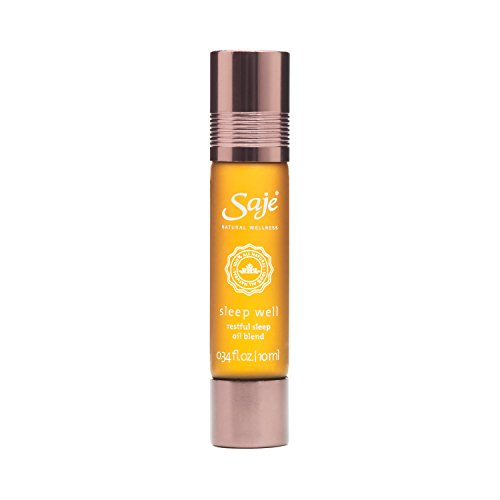 Saje Sleep Well Essential Oil Blend, Calming and Relaxing, Roll-On Application, 100% Plant-Based (0.34 fl oz) - Aid Wellness Oil