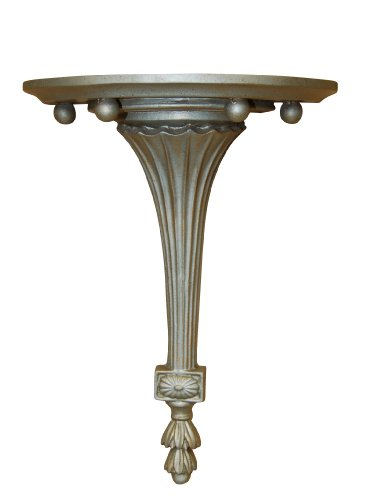 Hickory Manor House Fluted Bracket Decor, Gilt Silver