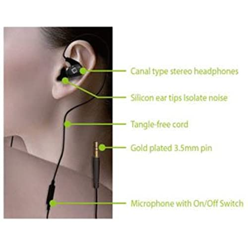 70OFF BLU Life 8 XL Cellet Premium Stereo Headset Hands Free Black Jelly Earbuds