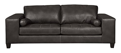 (Ashley Furniture Signature Design - Nokomis Contemporary Upholstered Sofa - Charcoal)
