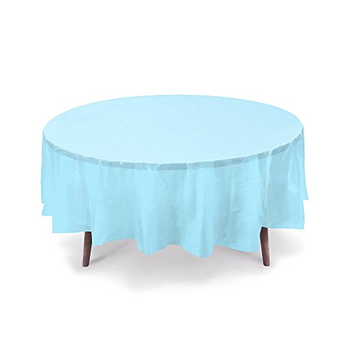 astic Table Cover, Plastic Table Cloth Reusable (PEVA) (Light Blue) ()