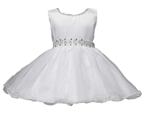 97b7a302b Baby Girl Flower Dress Infant Party Pageant Wedding Princess Tulle ...
