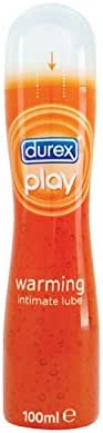 Durex Play Warming Intimate Lubricant Gel 100ml (3.38 Fl Oz), for Hot & Exciting Love Experience