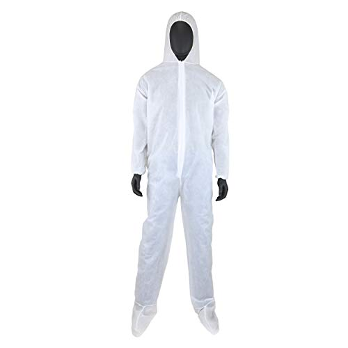 West Chester 3409 2XL PE Laminate Coverall Hood & Boot, 2XL, White (Pack of 25)