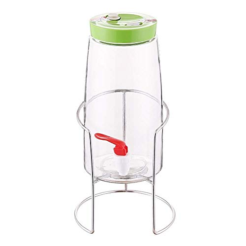 RUIMA Enzyme barrel household enzyme bottle automatic row of sparkling wine bottle with faucet stuffed wine glass bottle (Color : Green, Size : Plastic faucet)