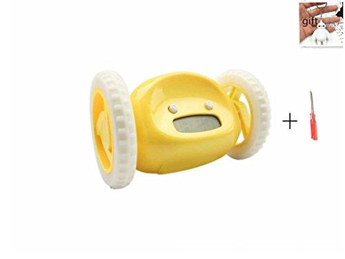 UPC 712243418473, Cute Runaway Alarm Clock on Wheels Cute Alarm Clock for Heavy Sleepers/Kids/Lover/Family etc(Yellow)