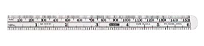 General Tools 305ME 6 x 15/32 Flex Precision Stainless Steel Rule