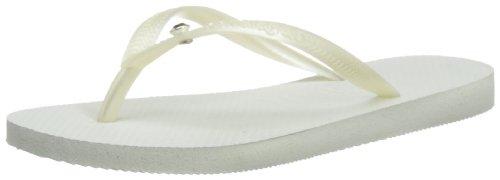 Havaianas Tongs Femme Slim Crystal Glamour Sw Blanc - Weiß (Blanc/Doré 0277)