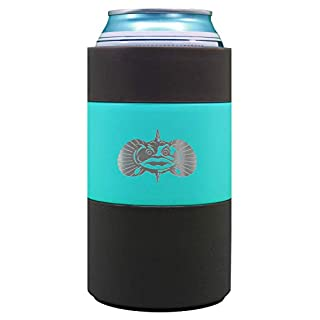 Toadfish Can Cooler - Non-Tipping Suction Cup Can Cooler - Double Wall Vacuum Insulation Insulated Can Cooler Designed to Stay Upright and Not Spill - Stainless Steel Construction (Teal) (Teal)