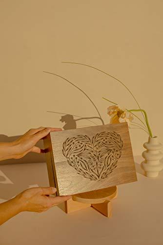 Floral Heart Laser Cut Wood Keepsake Box