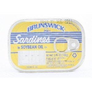 Brunswick Sardines (Brunswick Sardines in Soybean Oil, 3.75 Oz - 25 Pack)