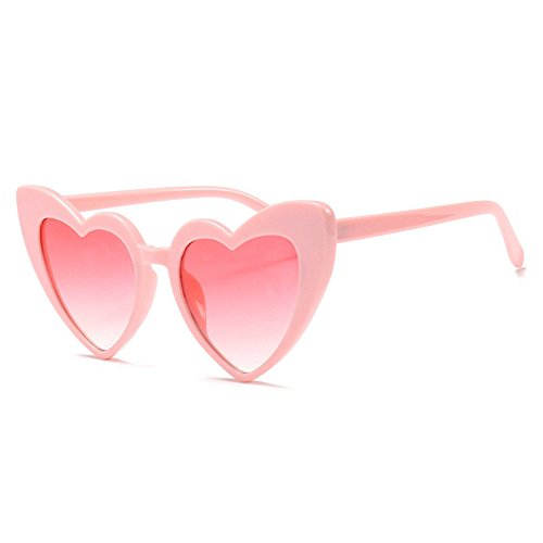 MINCL/New Fashion Love Heart Sexy Shaped Sunglasses For Women Girls Brand Designer Sunglasses UV400 (Big Designer Sunglasses)