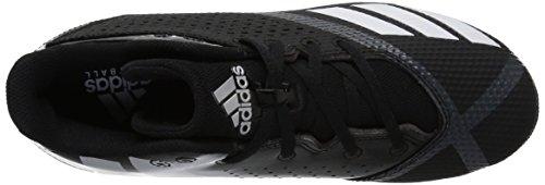 adidas Unisex 5-Star md Football Shoe, Black/White/Night Metallic, 6 M US Big Kid by adidas (Image #7)