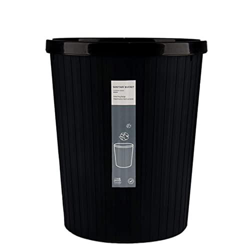 MADHEHAO Vuilnisbak Prullenbakken voor huishoudelijk gebruik onbedekte drukring vuilnisbakken, grootte: 21,5 * 25CM…
