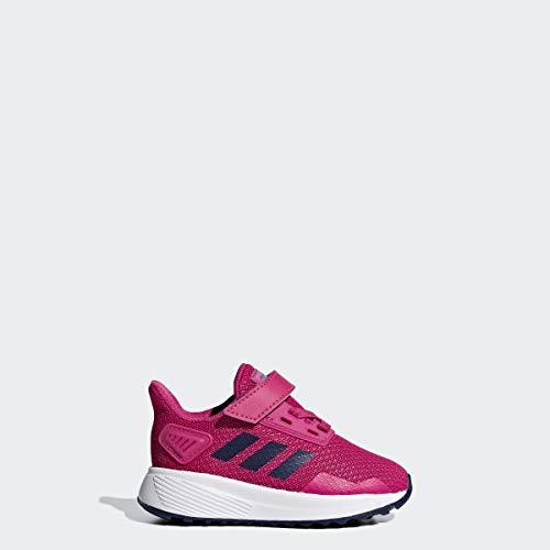 adidas Baby Duramo 9 Shoes, White/Real Magenta/Dark Blue, 6K M US Toddler (High Top Sneaker Girls)