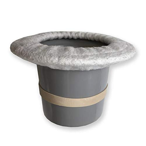 Top Hat Potty for Newborn Infant Potty Training | Elimination Communication | Includes 100% Cotton Undyed Fleece Cozy | Anti-Slip Rubber Band | for EC Baby Potty Training (Grey) ()