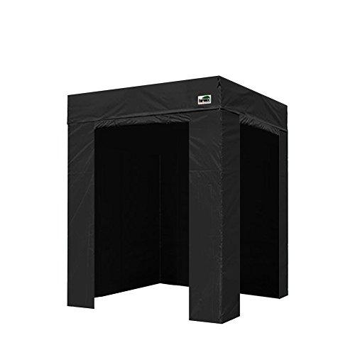 Eurmax Basic Photo Booth 5x5 Pop up Canopy Folding Tent W/4 Zipper Sidewalls & Carry Bag, Black(Flat Top) by Eurmax
