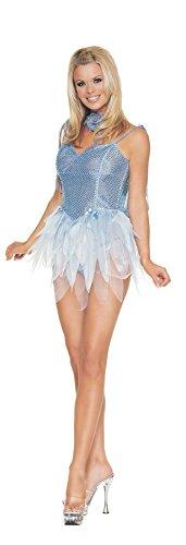 [Fairy Blue Glitter Adult Costume - Medium (6-10)] (Blue Fairy Glitter Costumes)