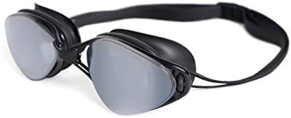 CHSY ダイビングメガネスイミンググラス防眩防水防水HDメッキゴーグルアダルトプロフェッショナルトレーニングUnisex スイミングゴーグル (Color : Black)
