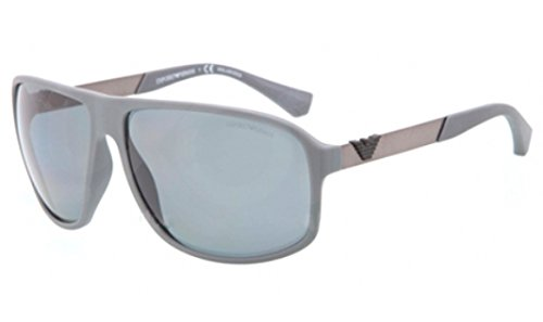 Emporio Armani Sunglasses EA4029 521181 Grey Rubber Poalr Grey 64 13 - Armani Sunglasses 2014