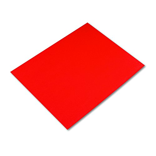 Pacon Peacock 100% Recycled Railroad Board, 22 x 28 Inches, 4-Ply, Red, Carton of 25 Sheets  (5475-1) -