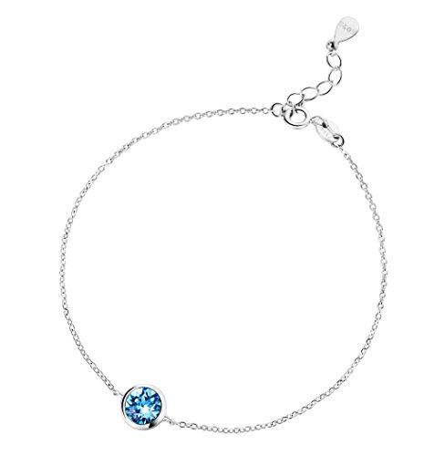 T400 Jewelers Ocean Blue Crystal Bracelet made with Swarovski Elements,best gift for women