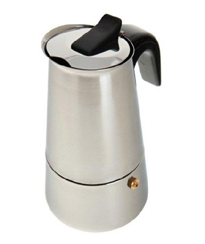 Cafetera italiana 6 tazas cocinas excepto inducción en acero ...