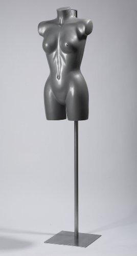 The Shopfitting Shop SILVER Donna Lingerie Swimwear Fashion Manichino Busto completo con piattaforma di in metallolo TSSBFEB