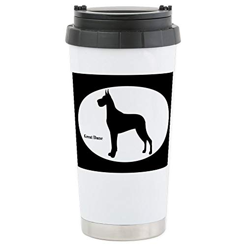 - CafePress Great Dane Silhouette Stainless Steel Travel Mug Stainless Steel Travel Mug, Insulated 16 oz. Coffee Tumbler