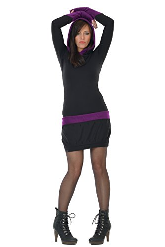 3elfen con capucha vestido polar con Black Purple By Fleece r6wrqg5