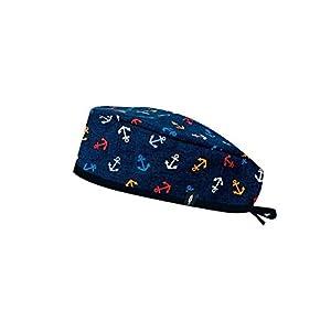 Modelo: Cousteau - Estampado - Gorro de Quirófano ROBIN HAT- Pelo Corto - Ajustable - 100% algodón (Autoclave) 6