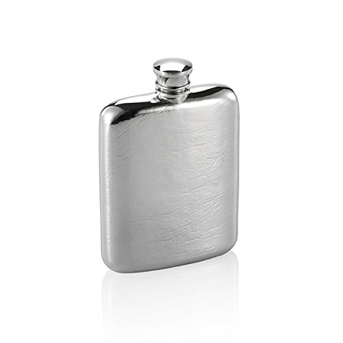 Royal Selangor Hand Finished Gift Box Collection Pewter Hip Flask (130ml) in Blonde Wooden Gift Box