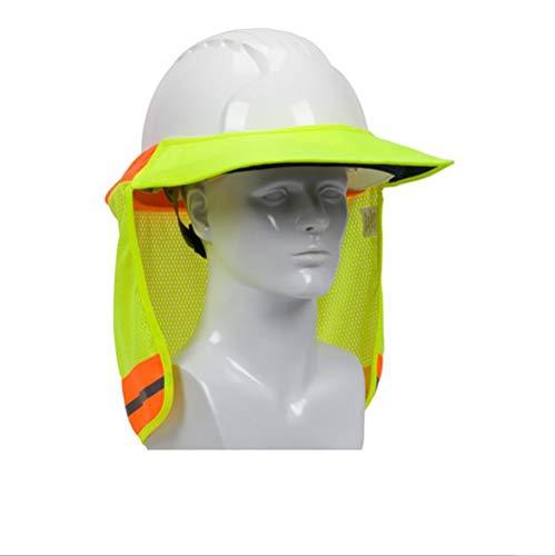2 Pack Hard Hat Sun Shield,Full Brim Mesh Neck Sunshade for Hardhats,High Visibility,Reflective by Shine US (Image #3)