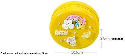 旅行用の葉巻の箱 子供の乳歯メモリアルボックスの女の子の乳歯は少年歯ボックス保存DIY木製赤ちゃんの変更歯箱 プロ保湿ケース (Color : K-Yellow)