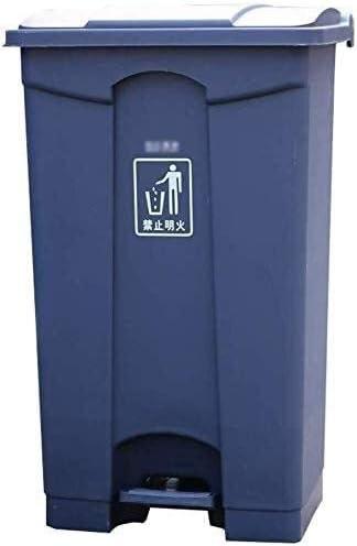 POIUY 100リットル屋外のゴミ箱は、複数の色の厚み付け大容量プラスチックごみ箱商業屋外のゴミ箱は、ごみ箱コレクションをペダルことができ (Color : E, Size : 87L)