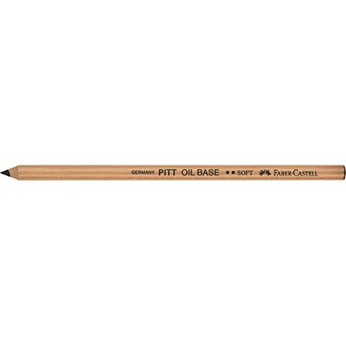 Faber-Castell Pitt Monochrome Oil-Based Artist Pencil - Black, Soft