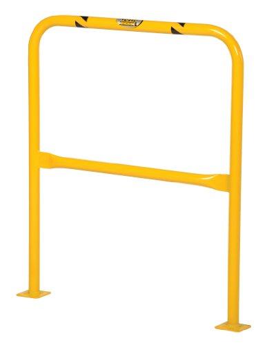 Vestil HPRO-36-42-2 Yellow Powder Coat High Profile Machinery Guard, Welded Steel, 1-5/8