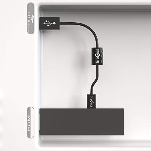 fire-Cable Power Adapter - Micro USB Cable for Streaming Sticks | Powers Device from Flat Screen TV