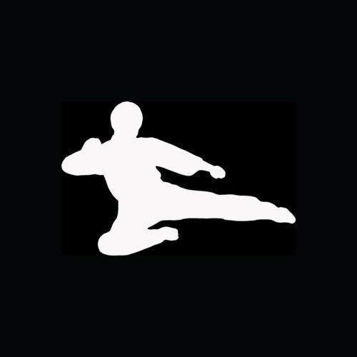 Karate Kick Sticker Dropkick Vinyl Decal Jump Ninja Black ...