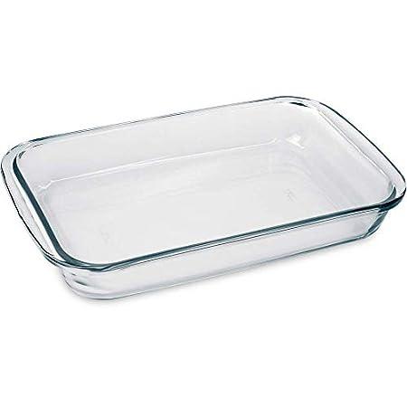 Marinex Cristal Bandeja horno rectangular, 1.6 litros, Vidrio ...